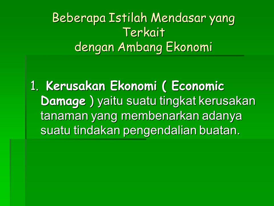 Beberapa Istilah Mendasar yang Terkait dengan Ambang Ekonomi