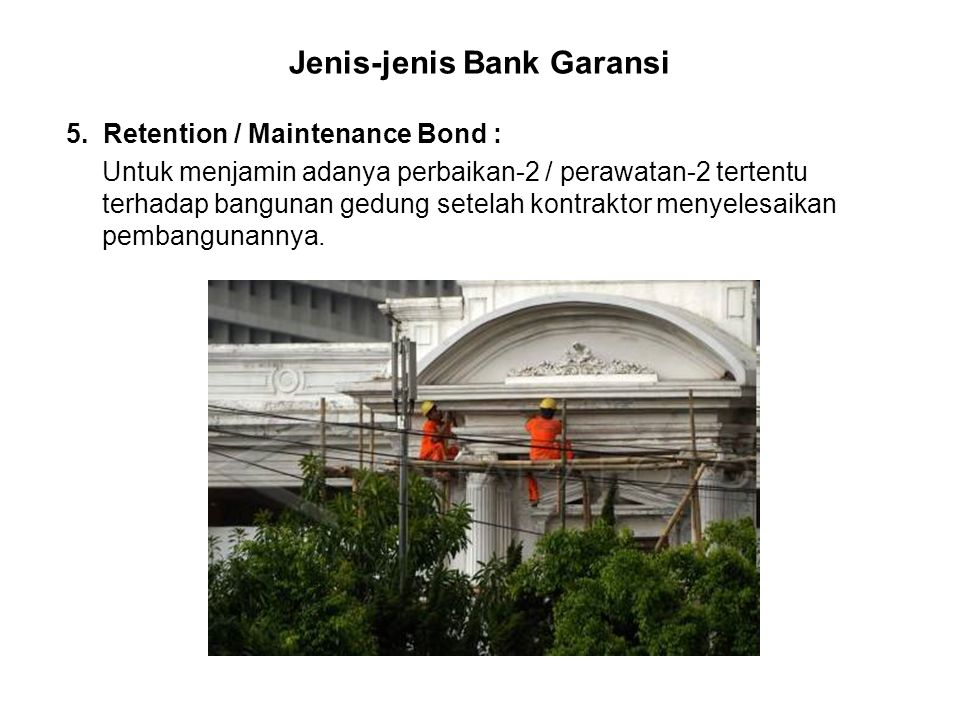 Jenis-jenis Bank Garansi