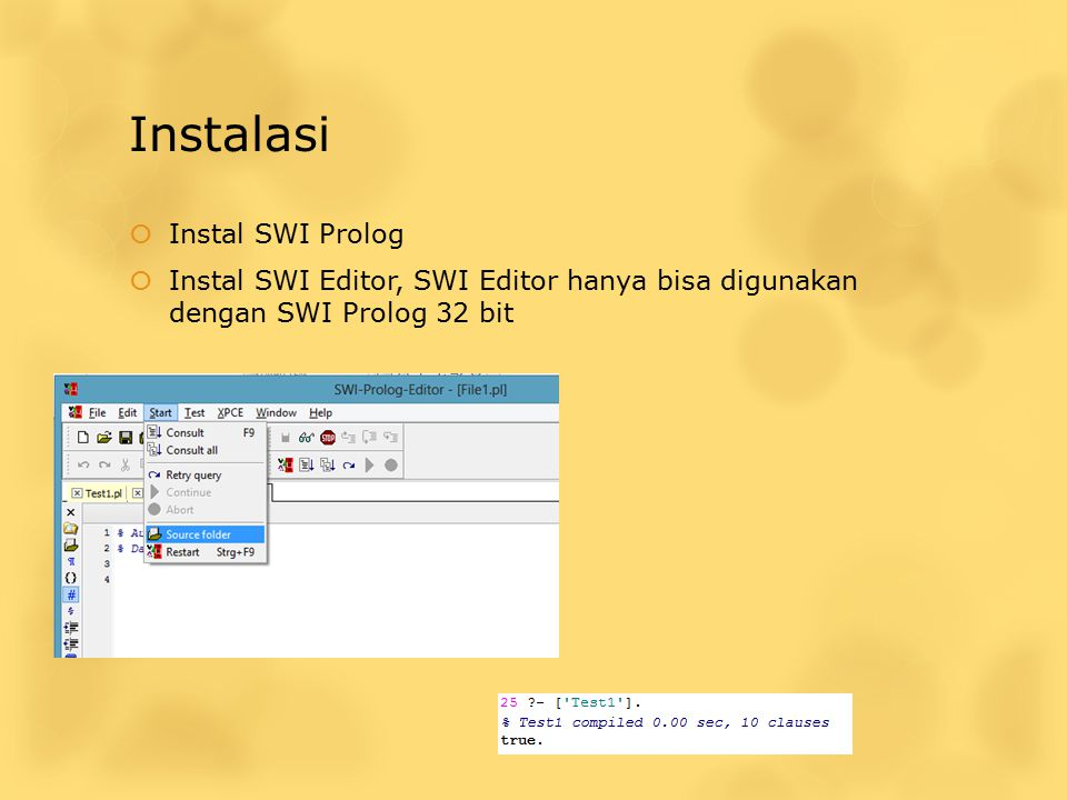 Instalasi Instal SWI Prolog