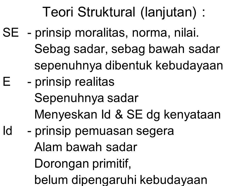 Teori Struktural (lanjutan) :