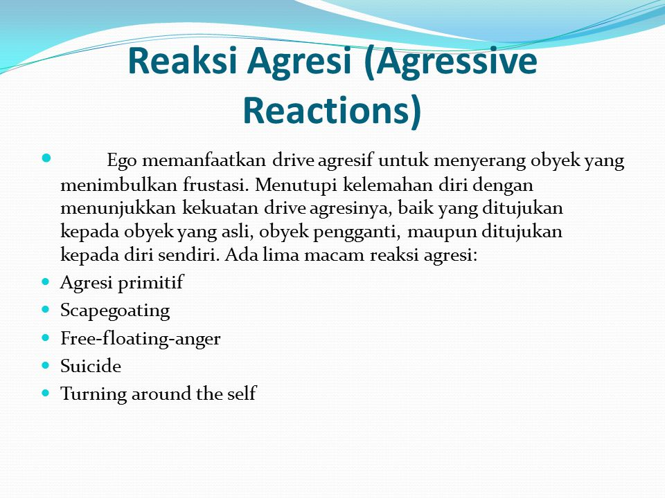 Reaksi Agresi (Agressive Reactions)