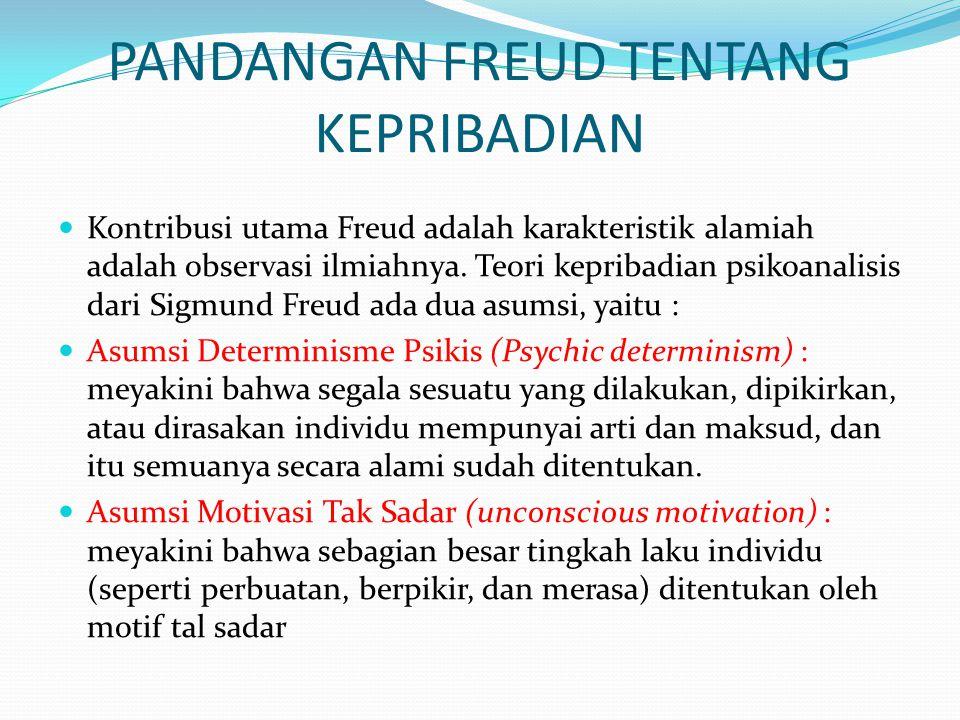 PANDANGAN FREUD TENTANG KEPRIBADIAN