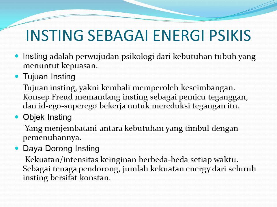 INSTING SEBAGAI ENERGI PSIKIS
