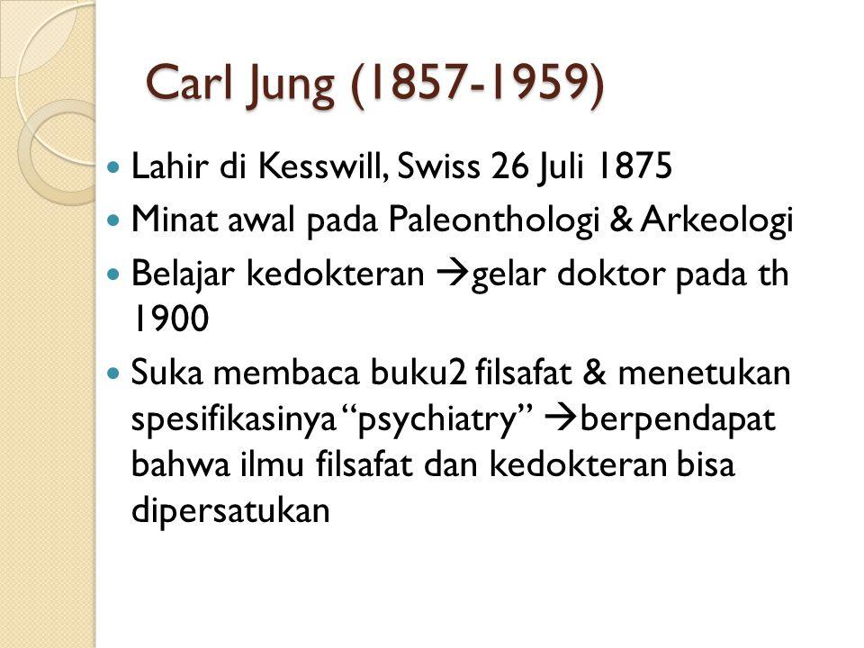 Carl Jung (1857-1959) Lahir di Kesswill, Swiss 26 Juli 1875