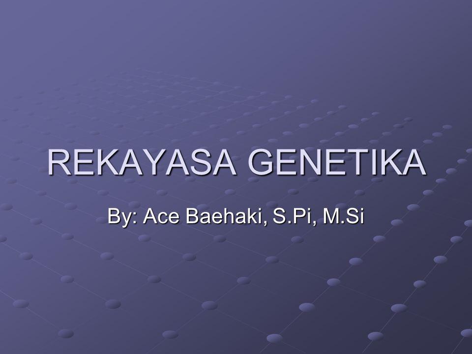 REKAYASA GENETIKA By: Ace Baehaki, S.Pi, M.Si