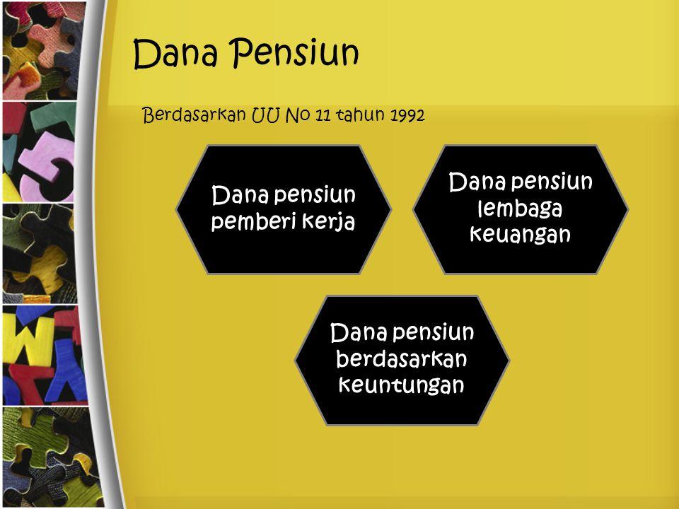 Dana Pensiun Berdasarkan UU No 11 tahun 1992