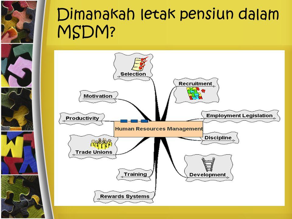 Dimanakah letak pensiun dalam MSDM
