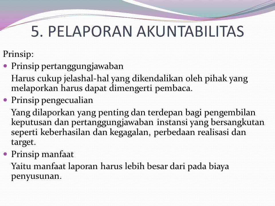 5. PELAPORAN AKUNTABILITAS