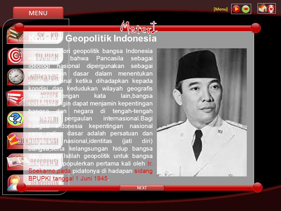MaterI Konsep Geopolitik Indonesia