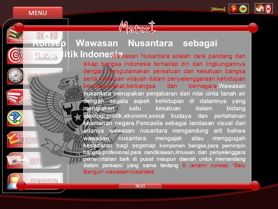 MaterI Konsep Wawasan Nusantara sebagai Geopolitik Indonesia