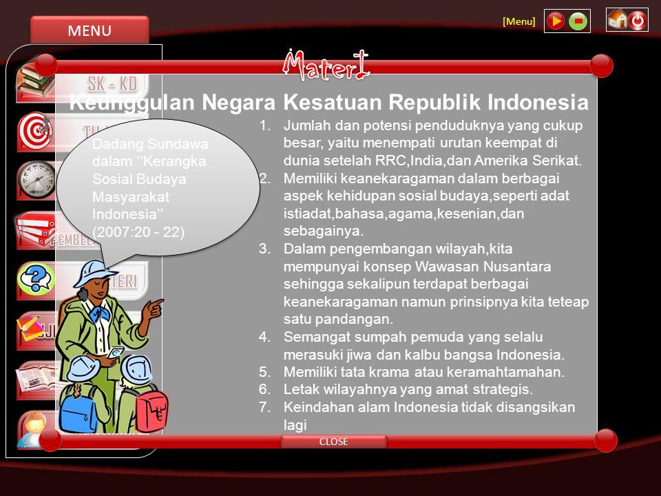 MaterI Keunggulan Negara Kesatuan Republik Indonesia