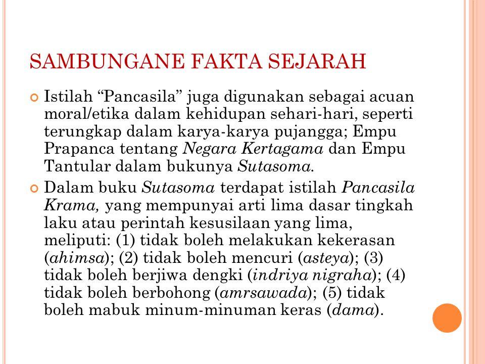 SAMBUNGANE FAKTA SEJARAH