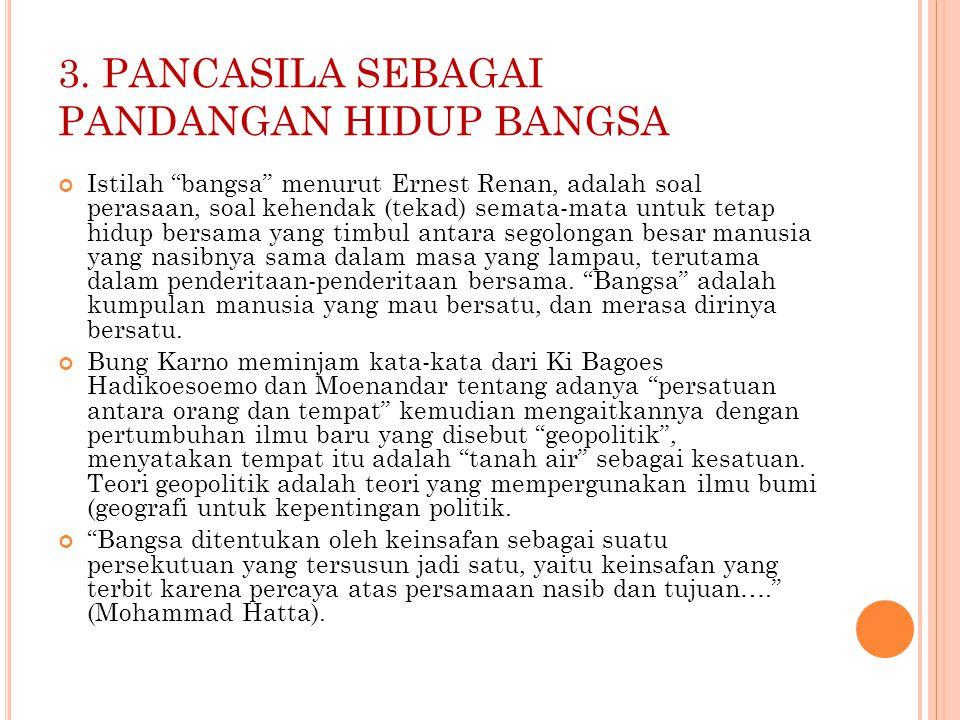 3. PANCASILA SEBAGAI PANDANGAN HIDUP BANGSA