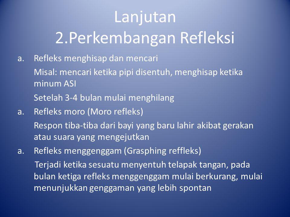 Lanjutan 2.Perkembangan Refleksi