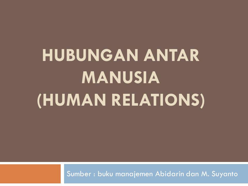 HUBUNGAN ANTAR MANUSIA (HUMAN RELATIONS)