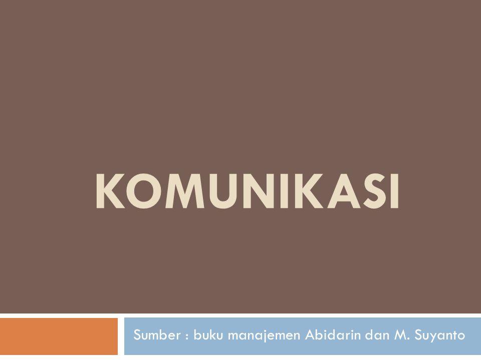 Sumber : buku manajemen Abidarin dan M. Suyanto