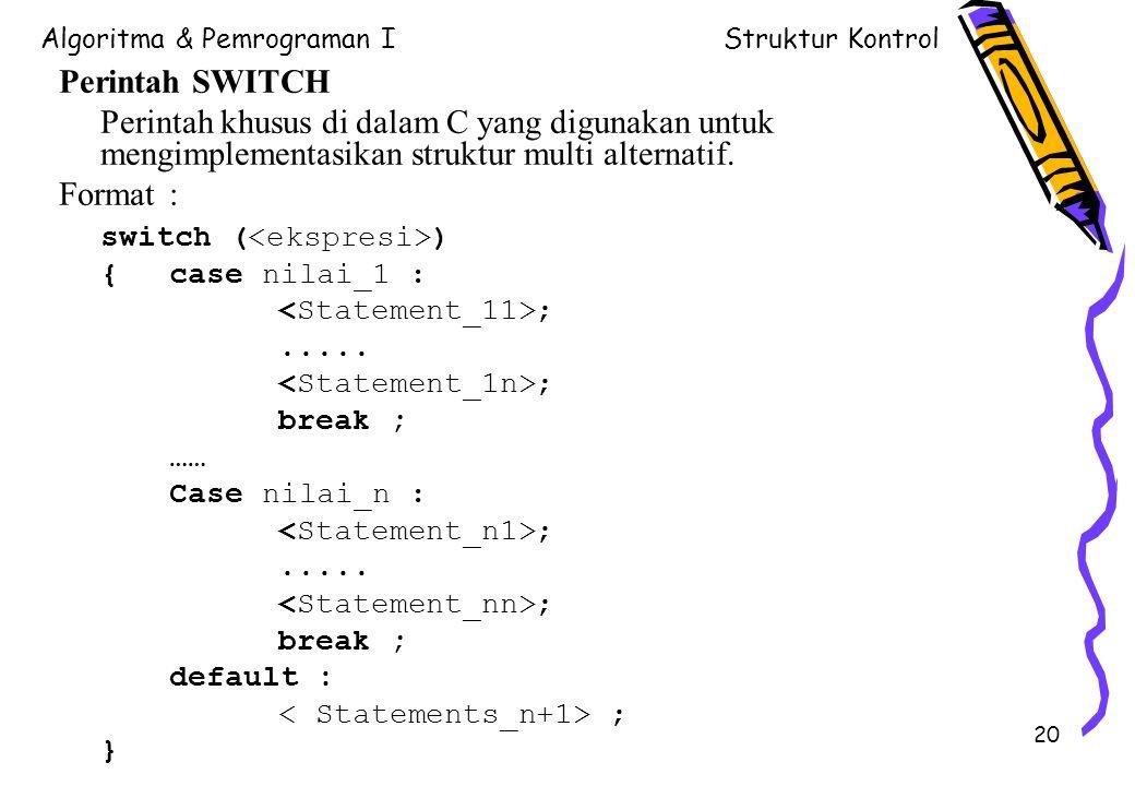 switch (<ekspresi>)