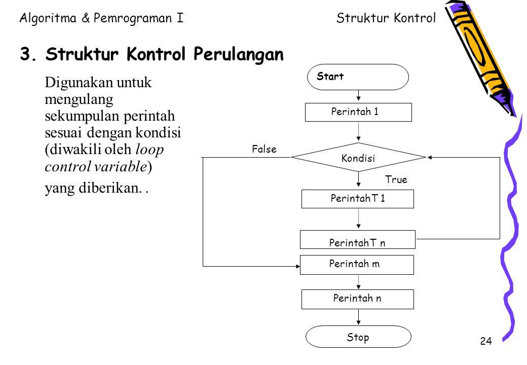 3. Struktur Kontrol Perulangan