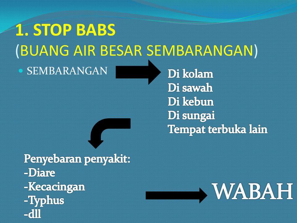1. STOP BABS (BUANG AIR BESAR SEMBARANGAN)