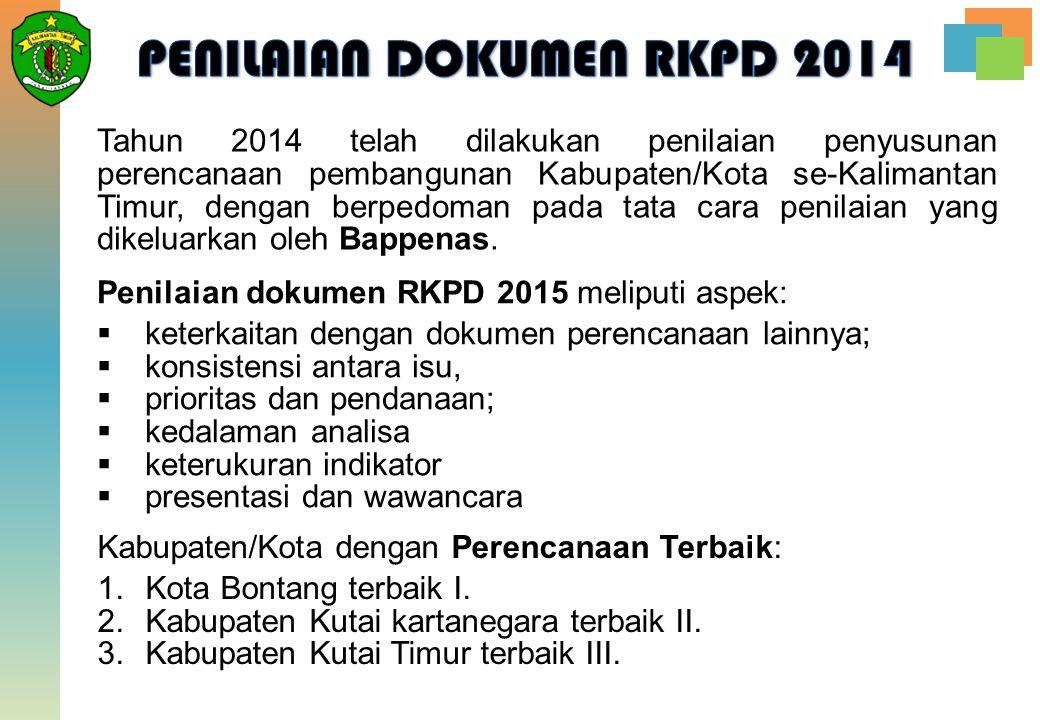 PENILAIAN DOKUMEN RKPD 2014