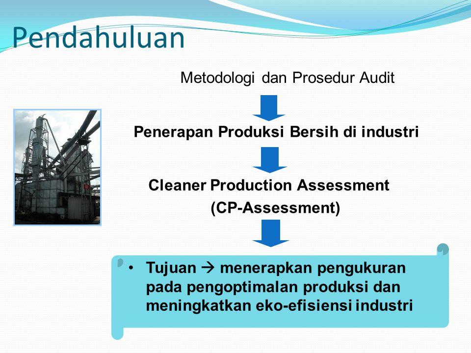 Penerapan Produksi Bersih di industri Cleaner Production Assessment