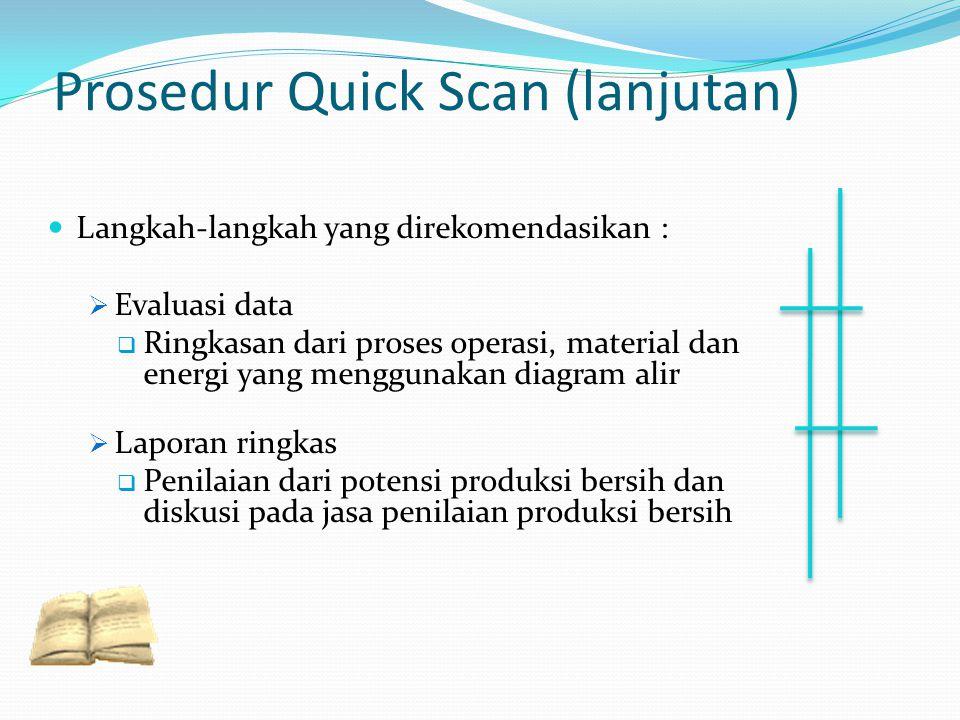 Prosedur Quick Scan (lanjutan)