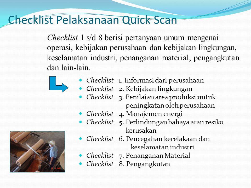 Checklist Pelaksanaan Quick Scan