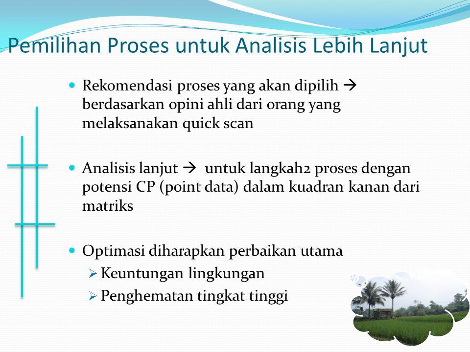 Pemilihan Proses untuk Analisis Lebih Lanjut