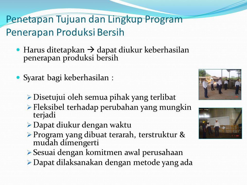 Penetapan Tujuan dan Lingkup Program Penerapan Produksi Bersih