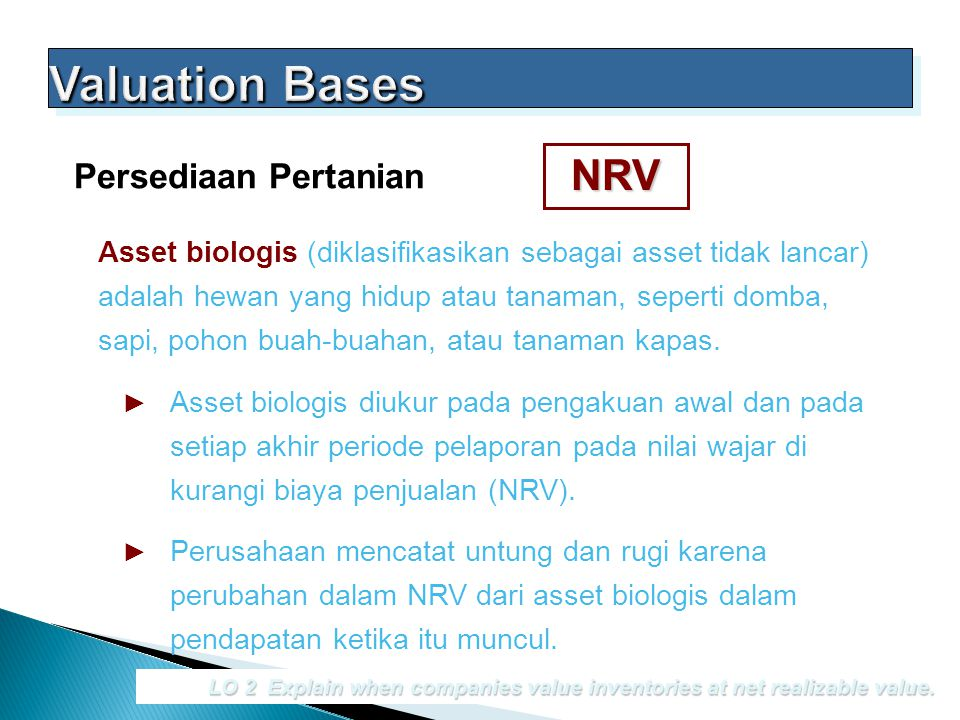 Valuation Bases NRV Persediaan Pertanian