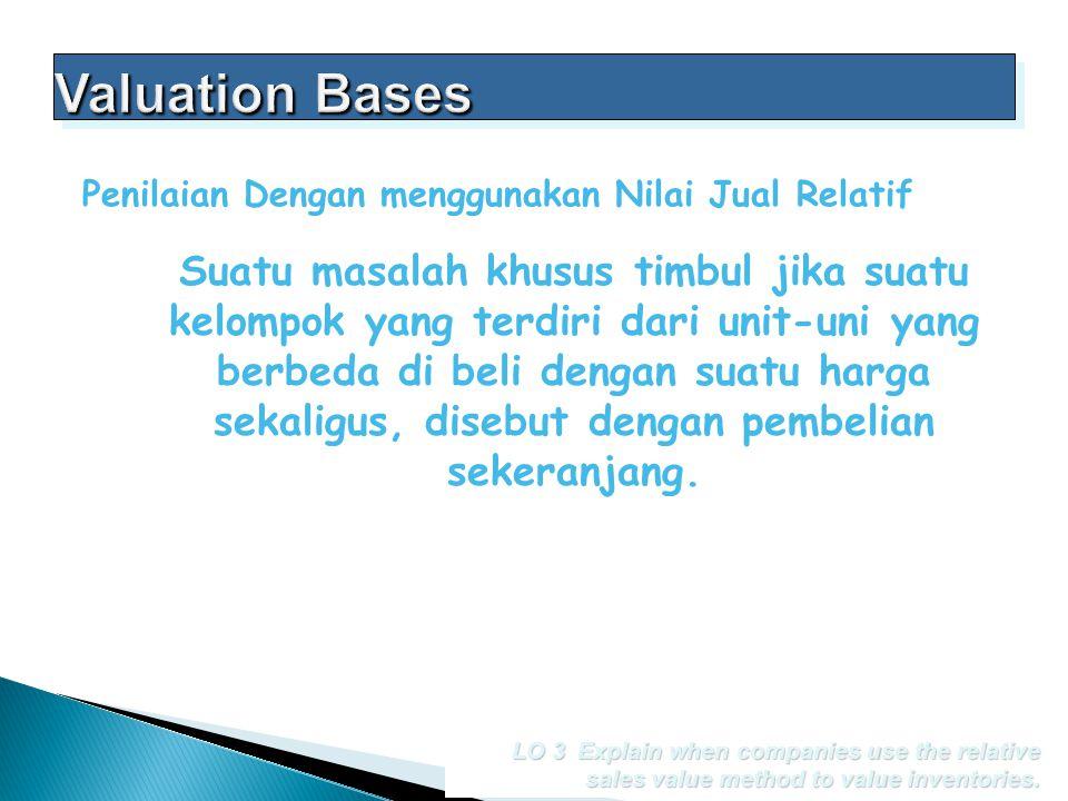 Valuation Bases Penilaian Dengan menggunakan Nilai Jual Relatif.