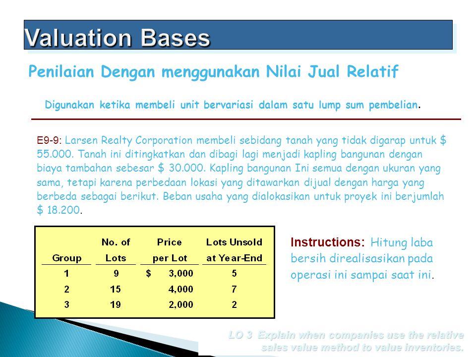 Valuation Bases Penilaian Dengan menggunakan Nilai Jual Relatif