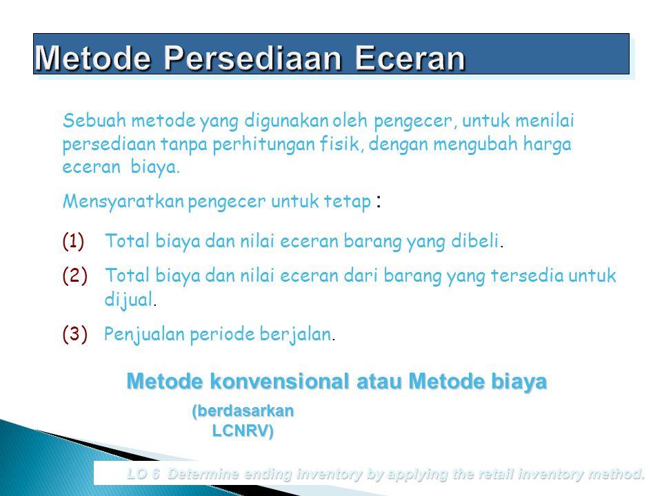 Metode Persediaan Eceran