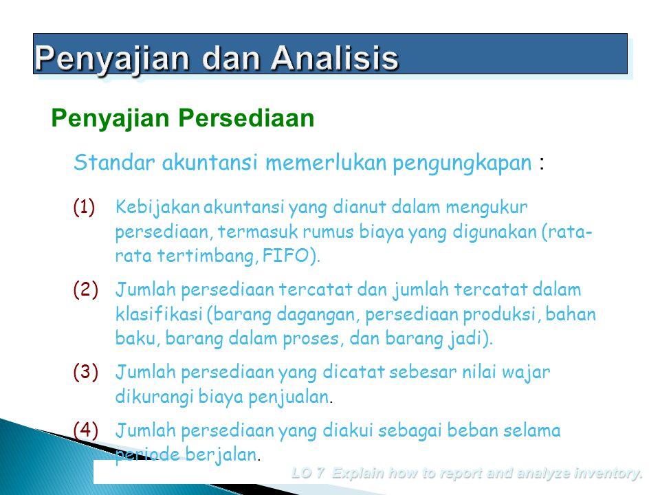 Penyajian dan Analisis