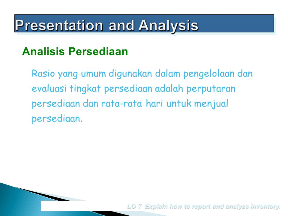 Presentation and Analysis