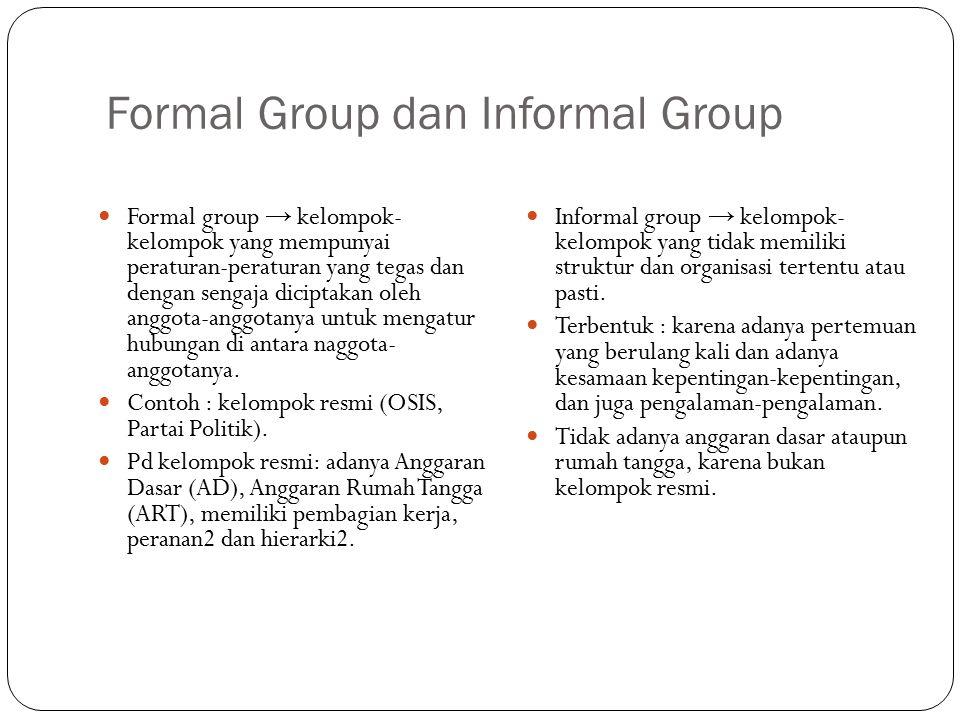 Formal Group dan Informal Group