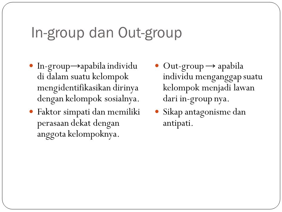 In-group dan Out-group
