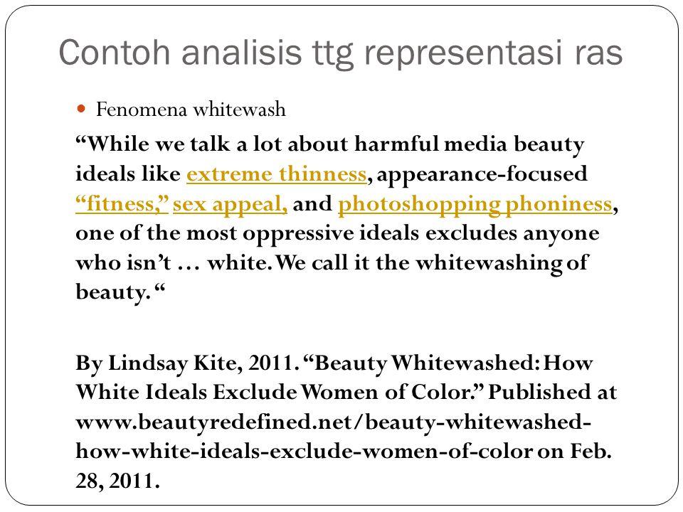 Contoh analisis ttg representasi ras