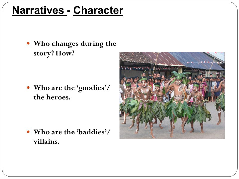 Narratives - Character