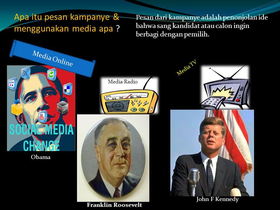 Apa itu pesan kampanye & menggunakan media apa