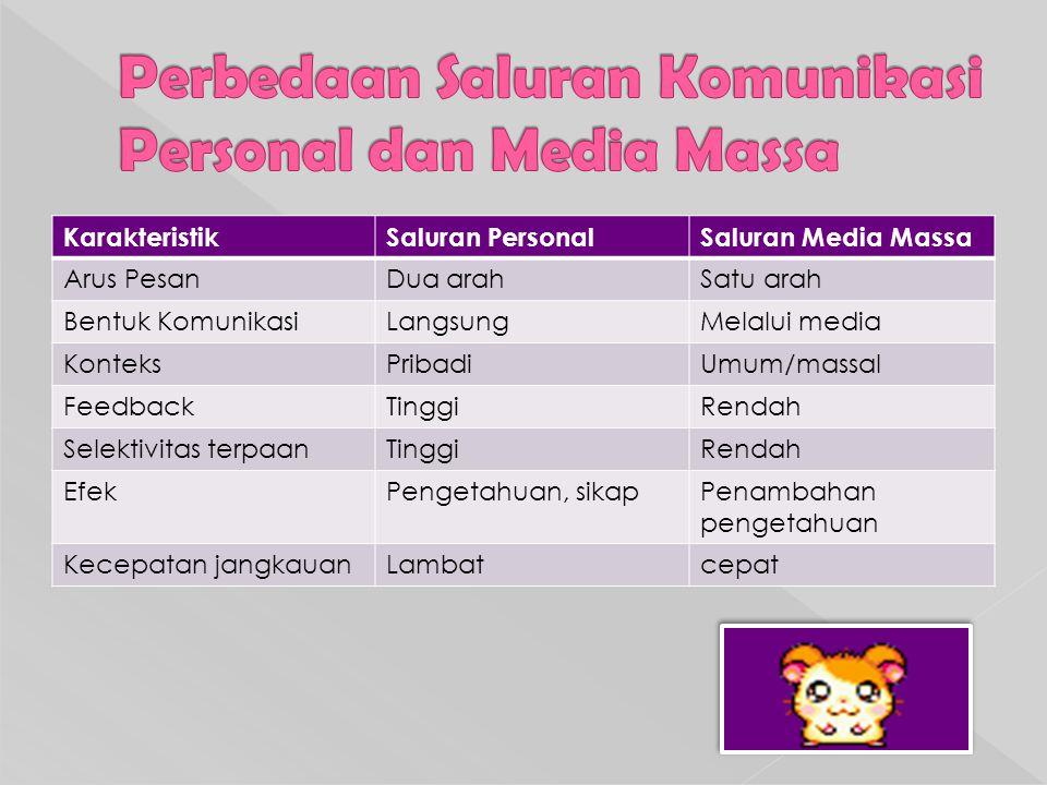 Perbedaan Saluran Komunikasi Personal dan Media Massa