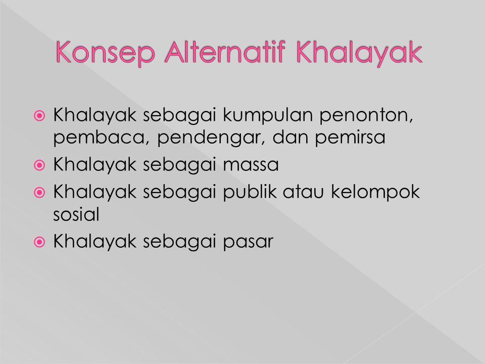 Konsep Alternatif Khalayak