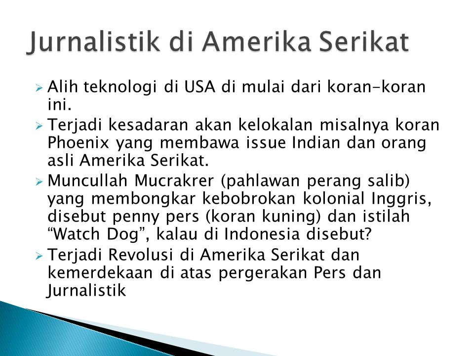 Jurnalistik di Amerika Serikat