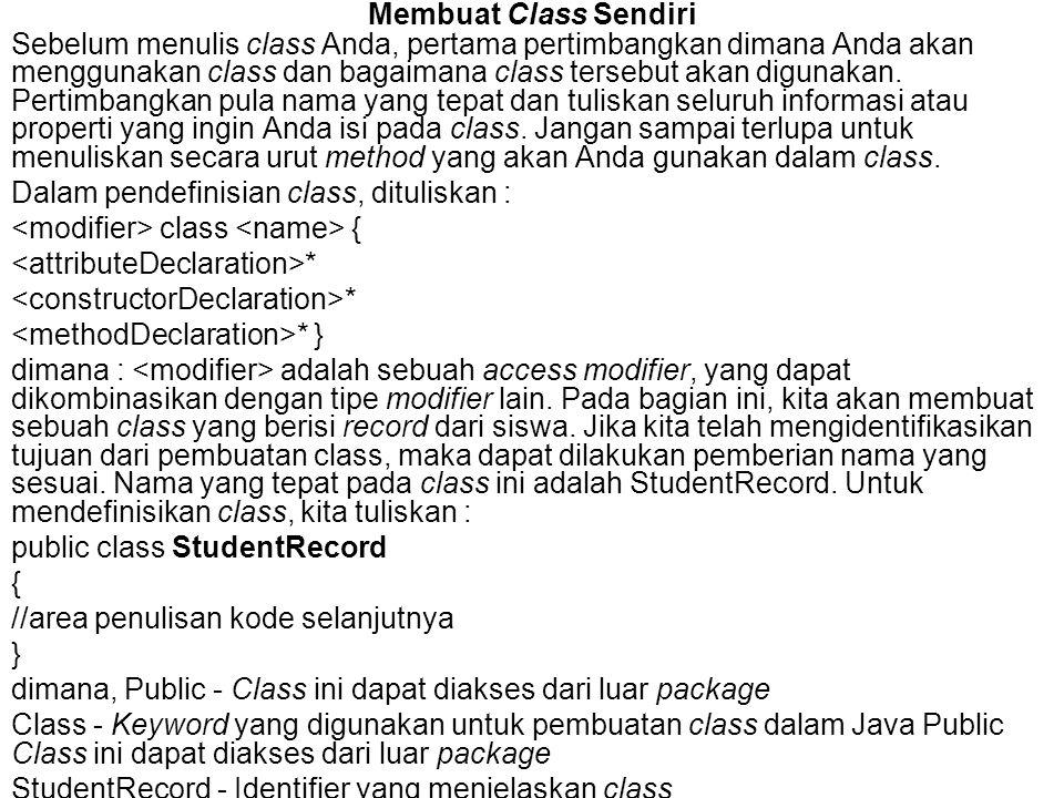Membuat Class Sendiri