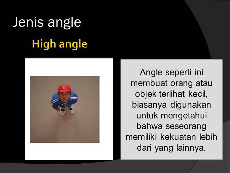Jenis angle