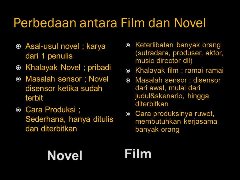 Perbedaan antara Film dan Novel