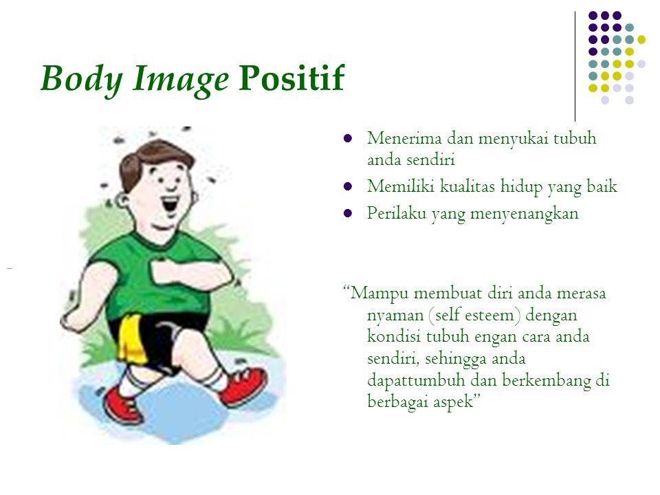 Body Image Positif Menerima dan menyukai tubuh anda sendiri