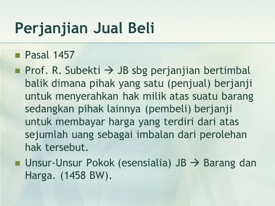 Perjanjian Jual Beli Pasal 1457