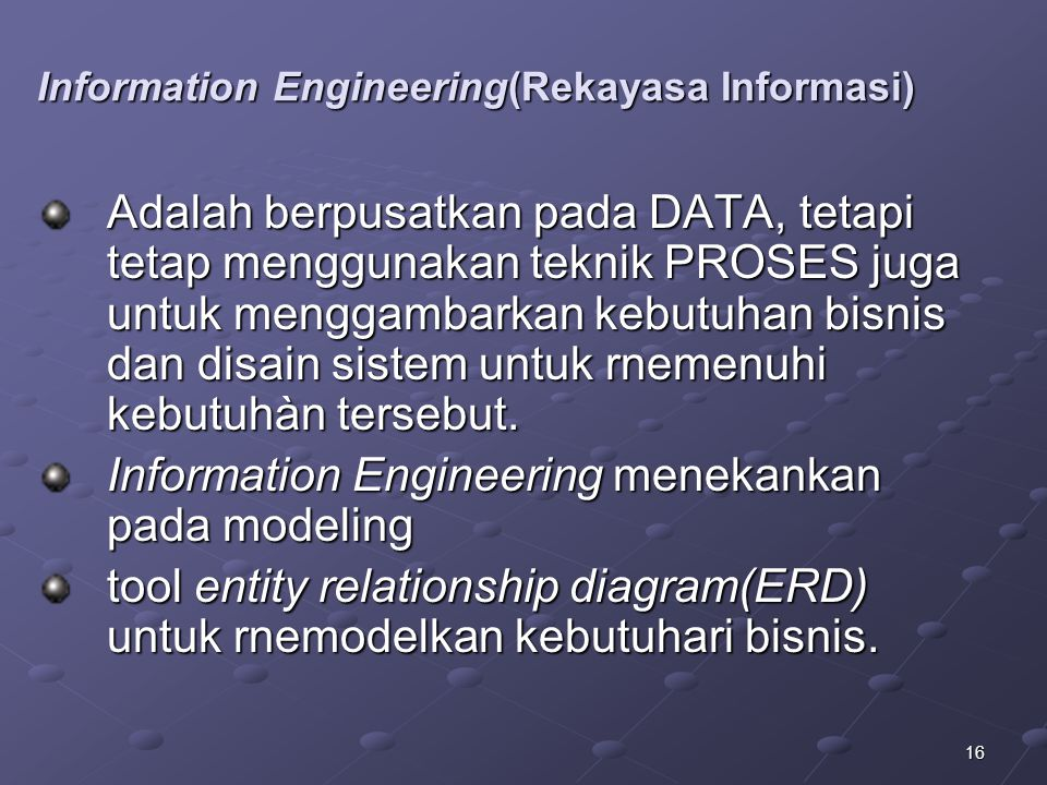Information Engineering(Rekayasa Informasi)