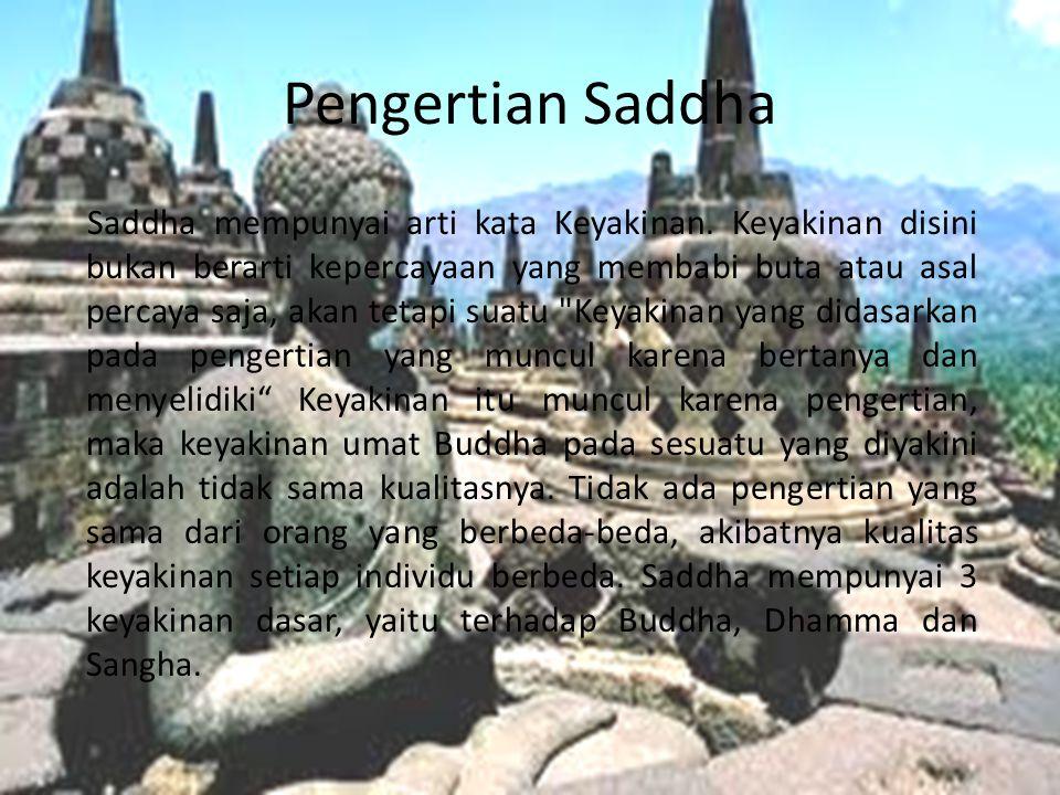 Pengertian Saddha